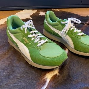 Puma Green Leather Suede Shoes